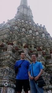 With Kanisorn at Wat Arun.